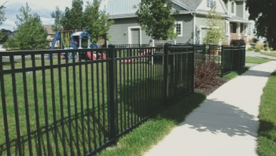 If you want a rod iron fence, we can help you! Our ornamental fences are made from aluminum with the look and feel of wrought iron. Aluminum fencing looks amazing and provides great security for any property.